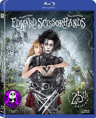 Edward Scissorhands Blu-Ray (1990) (Region A) (Hong Kong Version) 25th Anniversary Edition