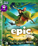 Epic 3D Blu-Ray (1993) (Region A) (Hong Kong Version) 2 Disc Collection Edition