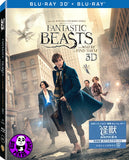 Fantastic Beasts And Where To Find Them 怪獸與牠們的產地 2D + 3D Blu-Ray (2016) (Region A) (Hong Kong Version) 2 Disc Lenticular Edition