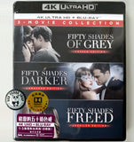 Fifty Shades Trilogy 4K UHD + Blu-ray (2015-2018) 格雷的五十道色戒1-3集電影套裝 (Hong Kong Version) 3-Movie Collection