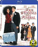 Four Weddings & A Funeral Blu-Ray (1994) (Region A) (Hong Kong Version)