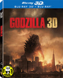 Godzilla 哥斯拉 2D + 3D Blu-Ray (2014) (Region A) (Hong Kong Version) 2 Disc Edition Lenticular Cover