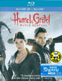 Hansel And Gretel: Witch Hunter 2D + 3D Blu-Ray (2013) (Region A) (Hong Kong Version)