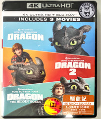 How To Train Your Dragon Trilogy 4K UHD + Blu-ray (2010-2019) 馴龍記1-3集電影套裝 (Hong Kong Version) 3-Movie Collection