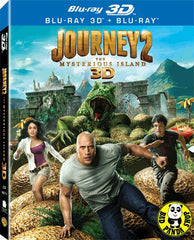 Journey 2 - The Mysterious Island 2D + 3D Blu-Ray (2012) (Region Free) (Hong Kong Version)