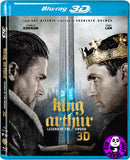 King Arthur Legend Of The Sword 2D + 3D 神劍亞瑟王 Blu-Ray (2017) (Region A) (Hong Kong Version)