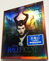 Maleficent 黑魔后 2D + 3D Blu-Ray (2014) (Region Free) (Hong Kong Version) Two Disc Limited Edition