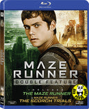 Maze Runner Double Feature 1+2 movie 移動迷宮1+2電影套裝 Blu-Ray Boxset (2014-2015) (Region A) (Hong Kong Version) Two Films Set