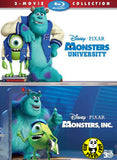 Monsters, Inc. 怪獸公司 + Monsters University 怪獸大學 2D+3D Two-Movie Collection Blu-Ray Set (2013) (Region A) (Hong Kong Version)
