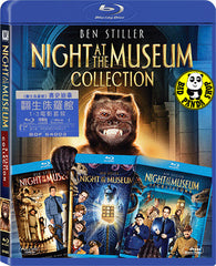Night At The Museum Trilogy Blu-Ray Boxset (2006-2014) (Region A) (Hong Kong Version) 3 Film Collection Set
