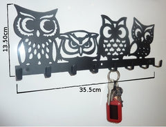 Stylish Metal Art Decor Wall Mounted Key Hook Hanger (Owls)