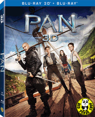 Pan 小飛俠魔幻始源 2D + 3D Blu-Ray (2015) (Region Free) (Hong Kong Version) 2 Disc Lenticular Cover