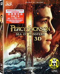 Percy Jackson: Sea Of Monsters 2D + 3D Blu-Ray  (2013) (Region A) (Hong Kong Version)