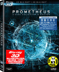 Prometheus 2D + 3D Blu-Ray (2012) (Region A) (Hong Kong Version)