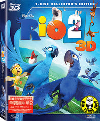 Rio 2 2D + 3D Blu-ray (2014) (Region A, B) (Hong Kong Version)