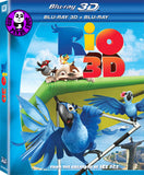 Rio 3D Blu-ray (2011) (Region A) (Hong Kong Version)