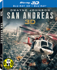 San Andreas 加州大地震 2D + 3D Blu-Ray (2015) (Region A) (Hong Kong Version) Lenticular Cover