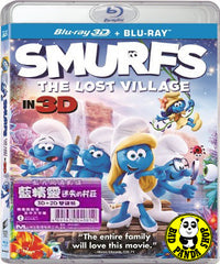 Smurfs: The Lost Village 2D + 3D Blu-Ray (2017) 藍精靈: 迷失的村莊 (Region A) (Hong Kong Version)