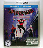 Spider-man: Into the Spider-Verse 蜘蛛俠: 跳入蜘蛛宇宙 2D + 3D Blu-Ray (2018) (Region Free) (Hong Kong Version)