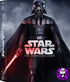 Star Wars The Complete Saga Blu-Ray Boxset (1977-2005) (Region A) (Hong Kong Version) 9 Disc Edition
