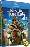Teenage Mutant Ninja Turtles 3D Blu-Ray (2014) (Region A) (Hong Kong Version)