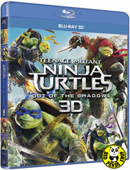 Teenage Mutant Ninja Turtles: Out Of The Shadows 忍者龜: 魅影突擊 3D Blu-Ray (2016) (Region A) (Hong Kong Version)