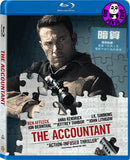 The Accountant 暗算 Blu-Ray (2016) (Region Free) (Hong Kong Version)