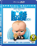 The Boss Baby 2D + 3D Blu-Ray (2017) 波士BB (Region A) (Hong Kong Version)