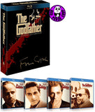 The Godfather: The Coppola Restoration 教父 1-3 集 Blu-ray Boxset (1972-1990) (Region A) (Hong Kong Version) 1-3 Movie + Special Features 4 Disc Collection Remastered 四碟裝數碼修復