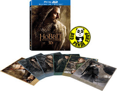 The Hobbit: The Desolation of Smaug 2D + 3D Blu-Ray (2013) (Region A) (Hong Kong Version) 4 Disc Lenticular Cover
