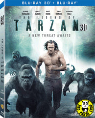 The Legend Of Tarzan 泰山傳奇: 森林爭霸 2D + 3D Blu-Ray (2016) (Region A) (Hong Kong Version) 2 Disc Lenticular Edition