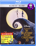 The Nightmare Before Christmas 怪誕城之夜 2D + 3D Blu-Ray (1993) (Region Free) (Hong Kong Version) 2 Discs