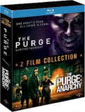 The Purge 1+2 Blu-Ray Boxset (2013-2014) (Region A) (Hong Kong Version) 2 Film Collection