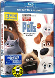 The Secret Life of Pets PET PET 當家 2D + 3D Blu-Ray (2016) (Region Free) (Hong Kong Version)