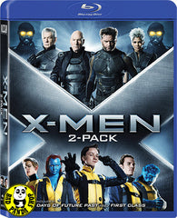 X-Men 2 Pack (First Class + Days Of Future Past) Blu-Ray (2014) (Region A) (Hong Kong Version) Two Movie Boxset