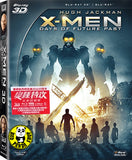 X-Men: Days Of Future Past 2D + 3D Blu-Ray (2014) (Region A) (Hong Kong Version)