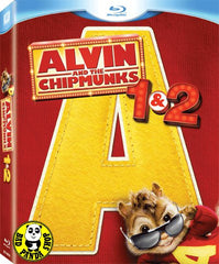 Alvin And The Chipmunks 1 + 2 花鼠明星俱樂部1+2電影套裝 Blu-Ray (2007/2009) (Region A) (Hong Kong Version) Boxset