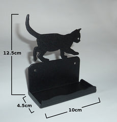 Metal Business Card Holder (Cat Kitten) Office Desk Decoration