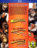 Madagascar - The Complete Collection Blu-Ray Boxset (2012) (Region A) (Hong Kong Version) Trilogy