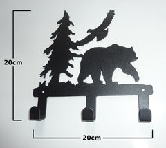 Stylish Metal Art Decor Wall Mounted Clothes Hook Hanger (Bear)