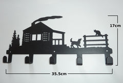Stylish Metal Art Decor Wall Mounted Clothes Hook Hanger (Farm House)