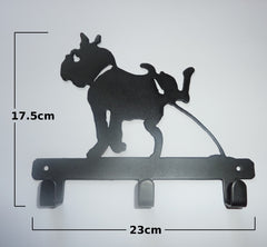 Stylish Metal Art Decor Wall Mounted Key Hook Hanger (Dog)