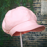 Lightweight Narrow Corduroy (Light Pink) Spring, Autumn Fall Gatsby Hat / Newsboy Cap for Toddlers, Girls and Women 秋冬報童帽 (淺粉色薄料超幼條燈芯絨)