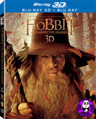 The Hobbit: An Unexpected Journey 2D + 3D Blu-Ray (2012) (Region A) (Hong Kong Version) 4 Disc