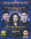 The Twilight Saga: The Breaking Dawn part 1 + 2 Two Movie Set Blu-Ray (2011-2012) (Region A) (Hong Kong Version)