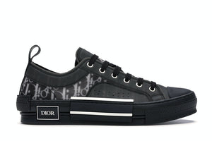 Dior B23 Low Top Canvas Oblique Black