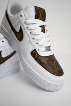 Load image into Gallery viewer, Brown Louis Viutton Nike Air Force 1 Custom Sneakers