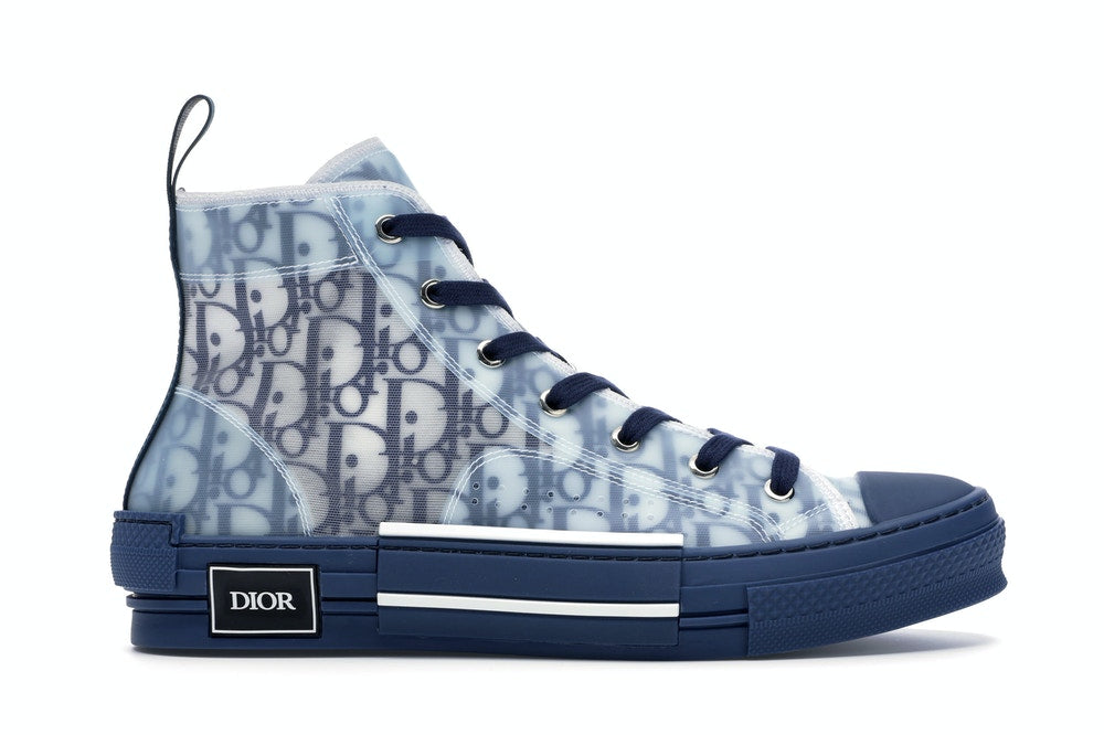 Dior B23 High Top Blue Oblique