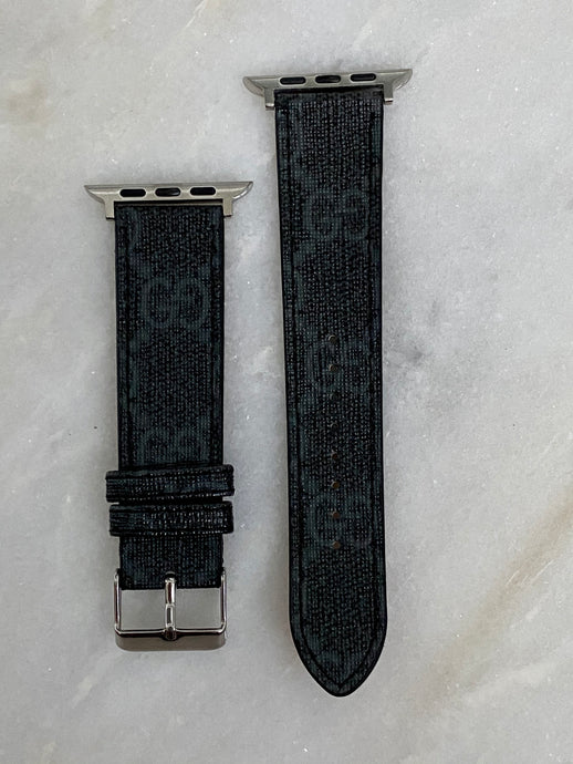 OG Black/Black Gucci Apple Watch band