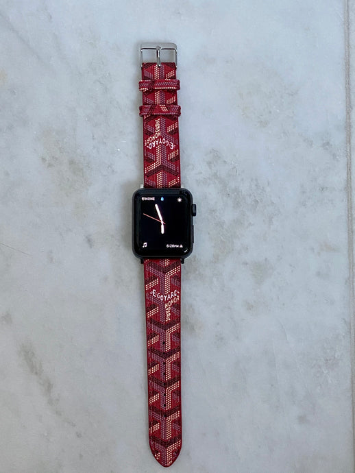Goyard Red Apple Watch band